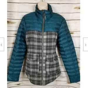 Toad & Co Plaid Puffer Jacket Coat Zip Front M